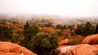 Foggy Autumn Day in Garden of the Gods